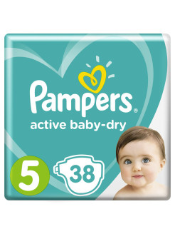 Подгузники Pampers Active Baby Dry 11-16 кг, размер 5, 38 шт Pampers