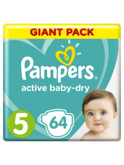 Подгузники Pampers Active Baby Dry 11-16 кг, размер 5, 64 шт Pampers