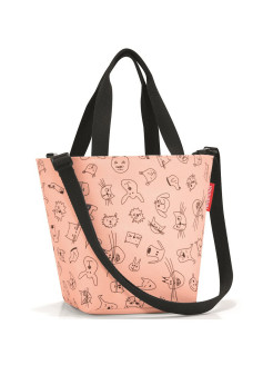Сумка детская Shopper XS cats and dogs rose Reisenthel