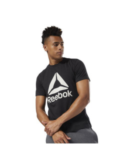 Футболка муж. QQR- Reebok Stacked BLACK/WHITE Reebok