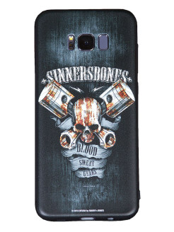 "Чехол для смартфонов SAMSUNG S8 plus ""Blood, Sweat, Gears"" SINNER's BONES"