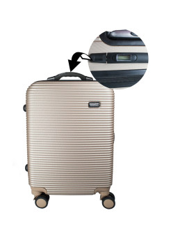TOUR + SMART plastic suitcase with integrated DIMENSIONS in the handle, 4 wheels, S-carry-on bag, 42 l PROFFI