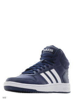 Кроссовки  HOOPS 2.0 MID       DKBLUE/FTWWHT/FTWWHT Adidas