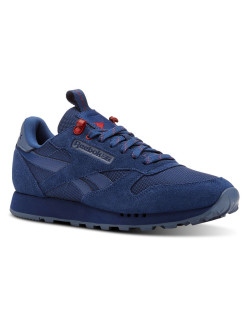 Кроссовки CL LEATHER MU BUNKER BLU/BLUE SLAT Reebok