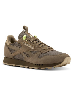 Кроссовки CL LEATHER MU GREY/NEUTRAL/LEMON Z Reebok