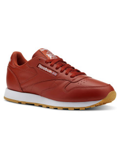 Кроссовки CL LEATHER MU BURNT AMBER/WHITE/GU Reebok