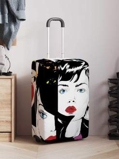 Suitcase Cover Magic Lady