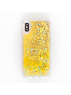 Глиттерный чехол для iPhone X (GOLD) Ipapai