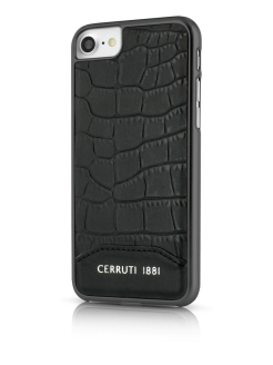 Чехол  для iPhone 7/8 Croco Leather Hard Black CERRUTI 1881