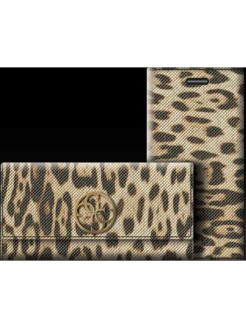 Чехол для iPhone 6Plus/6SPlus Animalier Clutch PU Brown GUESS