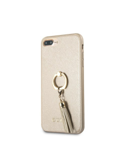 Чехол  для iPhone 7Plus/8Plus Saffiano Hard PU + Ring Beige GUESS
