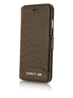 Чехол Cerruti для iPhone 7 Plus/8 Plus Croco Leather Booktype Brown CERRUTI 1881