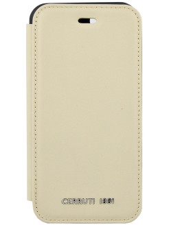Чехол Cerruti для iPhone 7/8 Genuine Leather Booktype Beige CERRUTI 1881