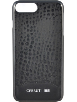 Чехол Cerruti для iPhone 7 Plus/8 Plus Croco Leather Hard Black CERRUTI 1881