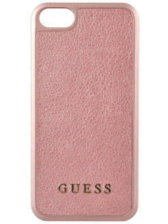Чехол Guess для iPhone 5S/SE Iridescent Hard PU Rose Gold GUESS