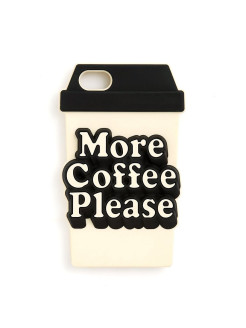 Чехол silicone iPhone case, more coffee please ban.do