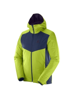 Двусторонняя куртка DRIFTER MID HOODIE M Acid Lime/Dress Blu SALOMON