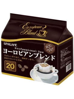 Кофе European Blend 8 гр 20 шт. UNICAFE CO. LTD