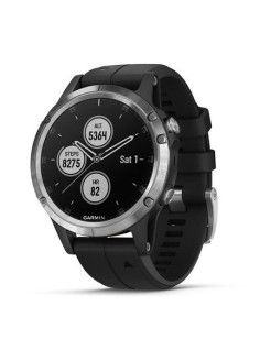 Часы fenix 5 Plus,Glass,Silverw/BlackBand (010-01988-11) GARMIN