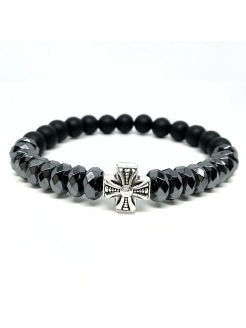 Браслет CHrome hearts 4 BW black wood