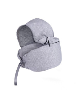 Туристическая подушка под шею Memory Hood Grays Mettle