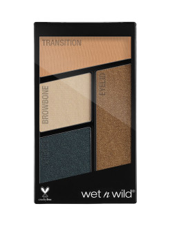 Палетка Теней Для Век Color Icon Eyeshadow Quad (4 Оттенка) E343b тон hooked on vinyl Wet n Wild