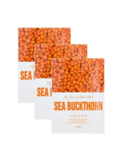 Набор тканевых масок MY SKIN-FIT SHEET MASK SEA BUCKTHORN с экстрактом облепихи, 3*25г A'PIEU