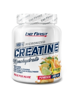 Креатин Creatine Micronized Powder (цитрусовый микс), 300 гр be first