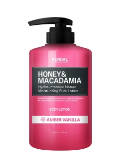 "Лосьон для тела ""Kundal Kundal Honey & Makadamia Pure Body Lotion"" Янтарная Ваниль, 500 мл Kundal"