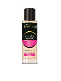 "Тональный крем ""INSTA MAKE-UP - SKIN LIQUID №02 MEDIUM BEIGE"" 30мл BIELENDA"