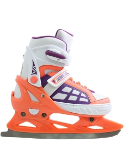 Раздвижные коньки Derby Girl р.37-40 (M) new white-violet Tech Team