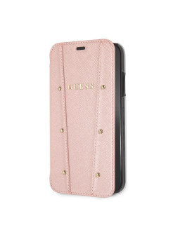 Чехол Guess для iPhone XR KAIA collection Booktype Rose gold GUESS