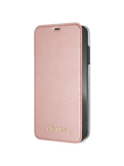 Чехол Guess для iPhone XS Max Iridescent Booktype Rose Gold GUESS
