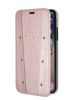 Чехол для iPhone X/XS KAIA collection Booktype Rose gold GUESS