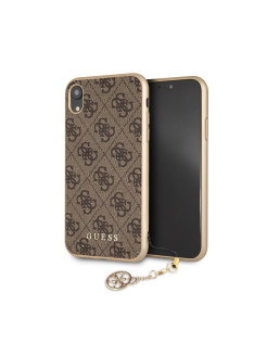 Чехол Guess для iPhone XR 4G Charms collection Hard Brown GUESS