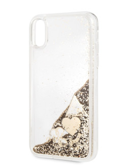 Чехол Guess для iPhone XR Glitter Hard Gold GUESS