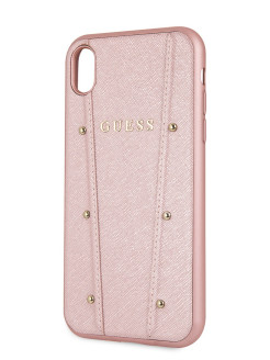 Чехол Guess для iPhone XR KAIA collection Hard Rose gold GUESS