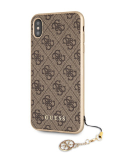 Чехол Guess для iPhone XS Max 4G Charms collection Hard Brown GUESS