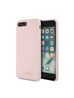 Чехол Guess для iPhone 7Plus/8Plus Silicone collection Gold logo Light Pink GUESS