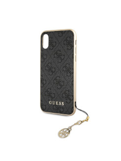 Чехол Guess для iPhone X/XS 4G Charms collection Hard Grey GUESS