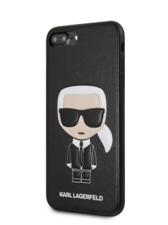 Чехол для iPhone 7 Plus/8 Plus PU Leather Iconic Karl Hard Black Karl Lagerfeld