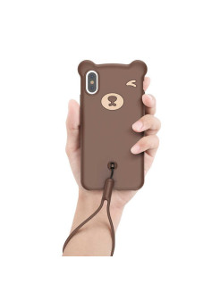 Чехол-накладка Apple iPhone XS Max Baseus Bear Brown BASEUS