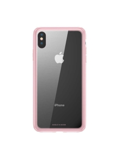 Чехол-накладка Apple iPhone XS Max Baseus See-through Glass Pink BASEUS