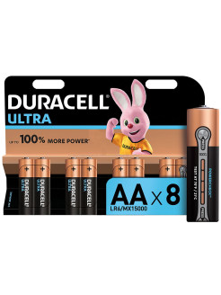 Батарейки LR6-8BL Ultra Power DURACELL