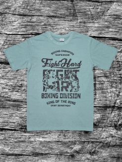 Футболка Fight Hard Gray Athletic pro.