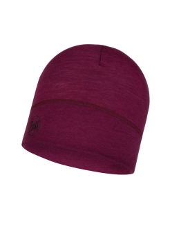 Шапка Buff LIGHTWEIGHT MERINO WOOL HAT SOLID PURPLE RASPBERRY Buff