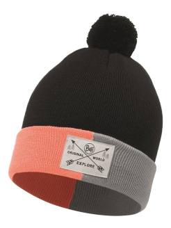 Шапка Buff JR KNITTED HAT KELDA GRAPHITE Buff