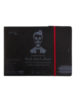 Скетчбук SM-LT Black #authenticbook с резинкой SM-LT