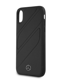 Чехол для iPhone X/XS New Organic I Hard Leather Black MERCEDES-BENZ