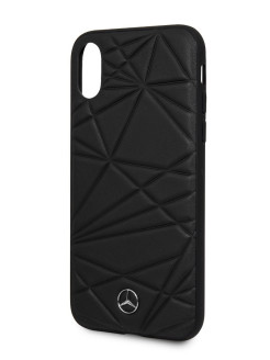 Чехол для iPhone X/XS Twister Hard Leather Black MERCEDES-BENZ
